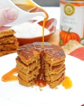 Gluten Free Pumpkin Pancakes with Pumpkin Spiced Maple Syrup