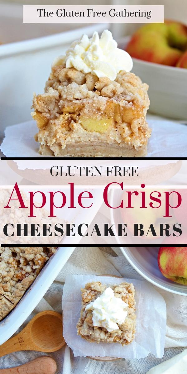 Gluten Free Apple Crisp Cheesecake Bars - The Gluten Free Gathering
