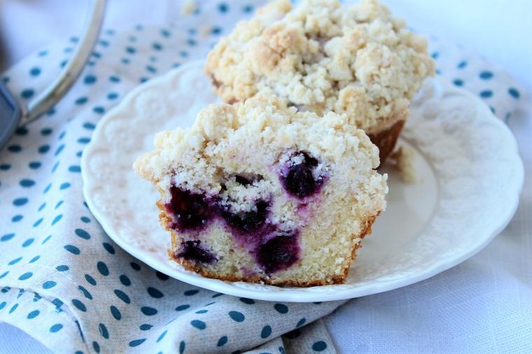 Gluten Free Blueberry Lemon Crumb Muffins