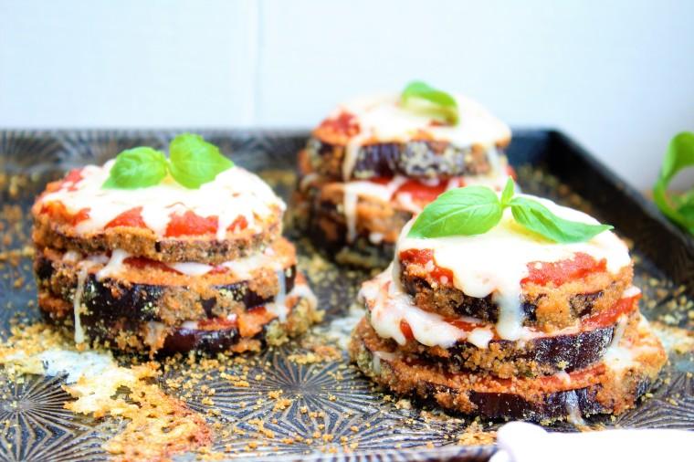 Gluten Free Eggplant Parmesan Stacks - The Gluten Free Gathering