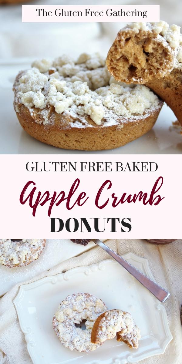 Gluten Free Apple Crumb Donuts - The Gluten Free Gathering