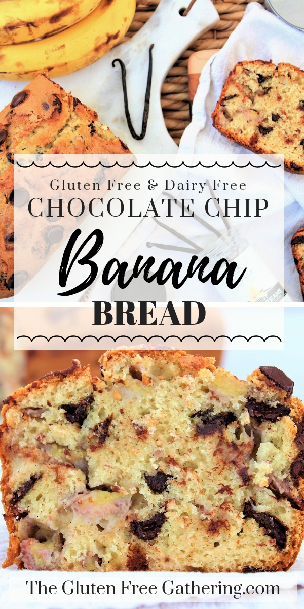 Gluten Free Banana Bread {Dairy Free} - The Gluten Free Gathering - #glutenfree #dairyfree #bananabread #glutenfreebreakfast #glutenfreebananabread #glutenfreebaking #glutenfreerecipes