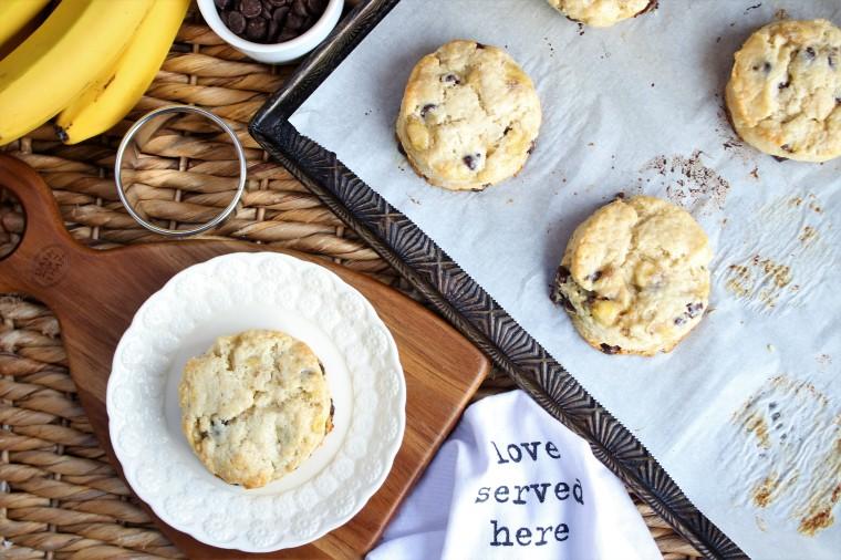 gluten free banana bread biscuits