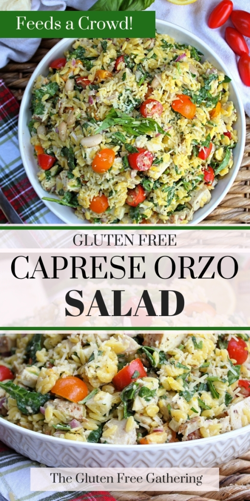 Gluten Free Caprese Orzo Salad - The Gluten Free Gathering